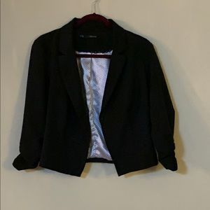 Maurices Black blazer w/ ruched sleeves